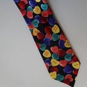 Valentine Conversation Candy Hearts Tie